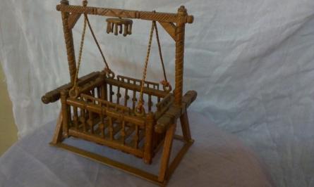 Miniature CRADLE | TEAK WOOD Handicraft | By Navodyami Program