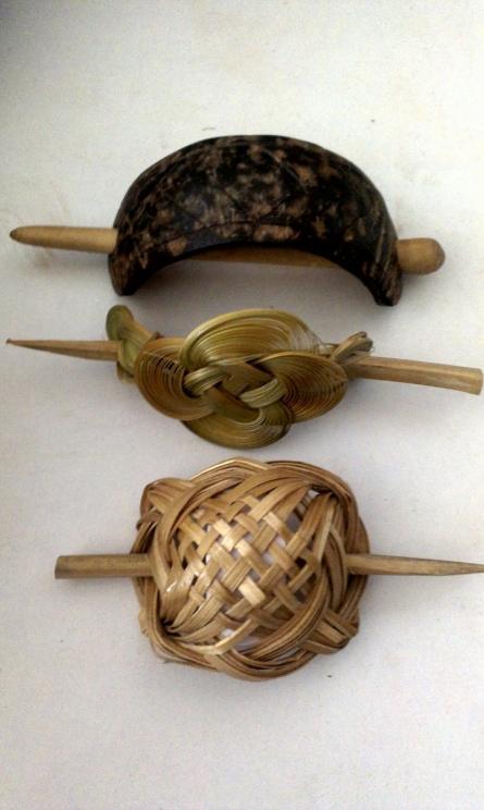 Natural Hairclips   Bamboo Handicraft   By Navodyami Program