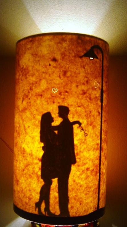 Paper Lampshade - Couple   paper Handicraft   By Navodyami Program