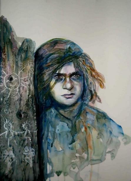 Ceasefire | Painting by artist Shoma Mukherjee | watercolor | Paper