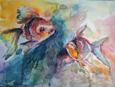 Harmony 1 | Painting by artist Shoma Mukherjee | watercolor | Paper