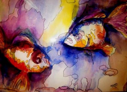 Harmony 2 | Painting by artist Shoma Mukherjee | watercolor | Paper
