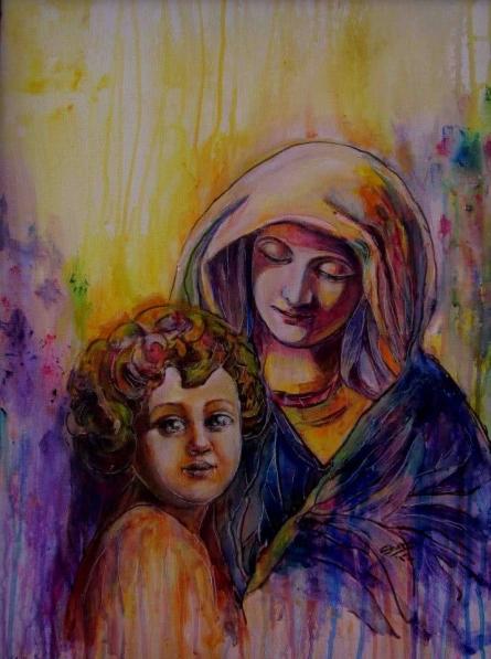 Messenger Of Peace | Painting by artist Shoma Mukherjee | acrylic | Canvas