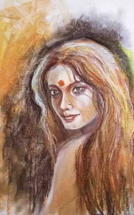 She 1 | Painting by artist Shoma Mukherjee | dry-pastel | Paper