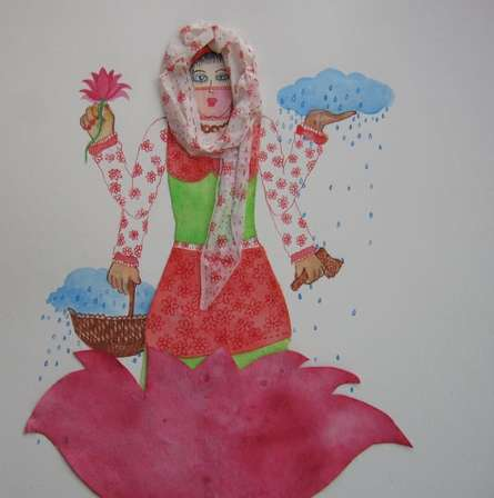 Pradnya Khandgonkar | Mixed-media Painting title Indian Venus on Paper | Artist Pradnya Khandgonkar Gallery | ArtZolo.com
