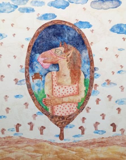 Pradnya Khandgonkar | Mixed-media Painting title Last Judgment on Canvas | Artist Pradnya Khandgonkar Gallery | ArtZolo.com