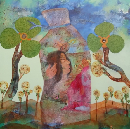 Respiration | Painting by artist Pradnya Khandgonkar | acrylic | Canvas