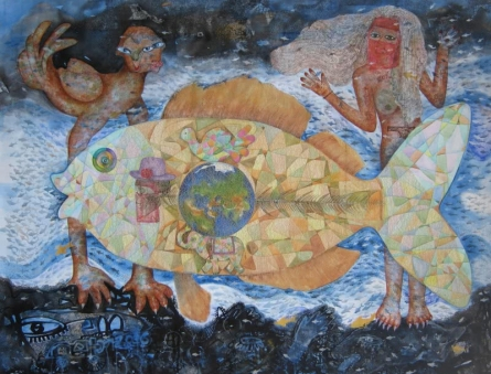 contemporary Acrylic Art Painting title 'World War' by artist Pradnya Khandgonkar