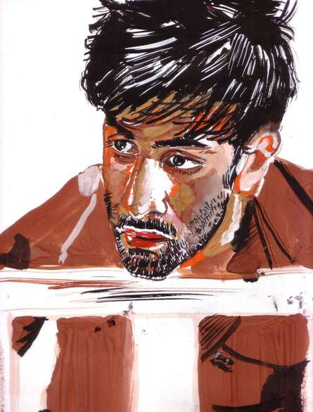 Saurabh Turakhia | Watercolor Painting title Intrigued and inspired on Paper | Artist Saurabh Turakhia Gallery | ArtZolo.com