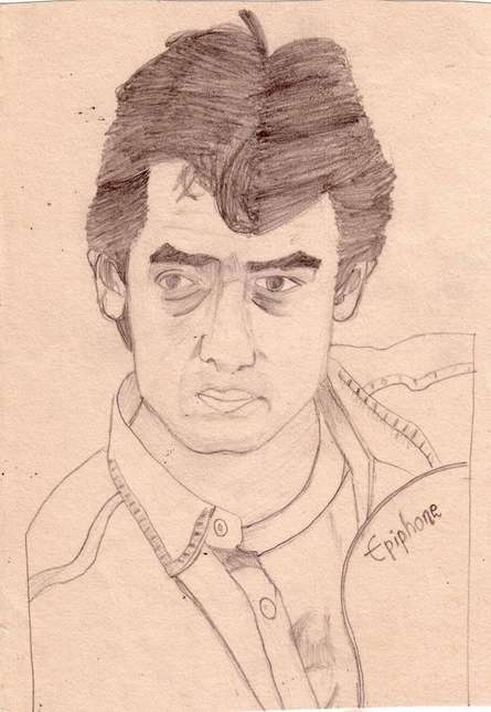 Portrait Pencil Art Drawing title 'I am a dreamer' by artist Saurabh Turakhia