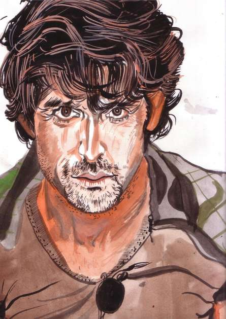 Thehrithikroshanstyle - Copy | Painting by artist Saurabh Turakhia | watercolor | Paper