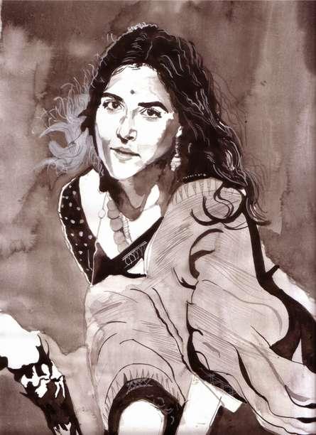 Being Beautiful | Painting by artist Saurabh Turakhia | watercolor | Paper