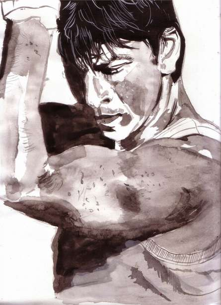 Portrait Watercolor Art Painting title Passion determines everything by artist Saurabh Turakhia