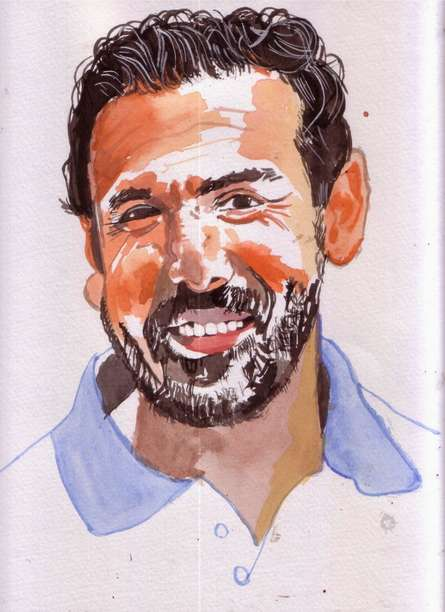 My smile is my style | Painting by artist Saurabh Turakhia | watercolor | Paper
