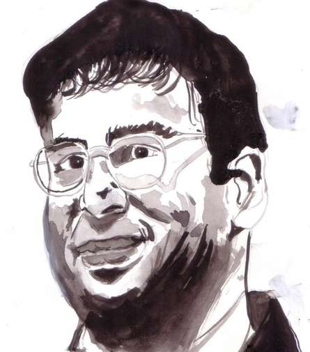 Saurabh Turakhia | Watercolor Painting title Viswanathan Anand is a Chess Champion on Paper | Artist Saurabh Turakhia Gallery | ArtZolo.com