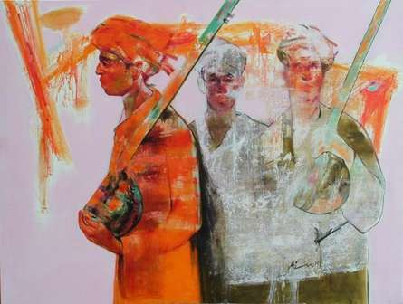 Story Teller 1 | Painting by artist Ajay Deshpande | oil | Canvas