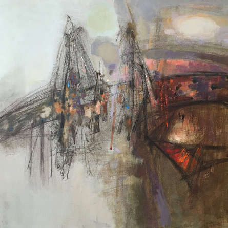 Abstract Acrylic Art Painting title Untitled 1 by artist Ajay Deshpande