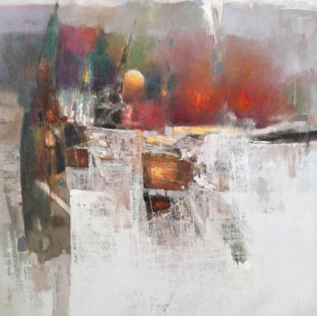 Abstract Oil Art Painting title Untitled 2 by artist Ajay Deshpande