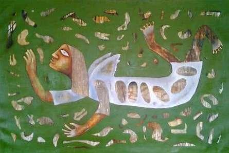 Ranjith Raghupathy | Oil Painting title Poor Angel on Canvas | Artist Ranjith Raghupathy Gallery | ArtZolo.com