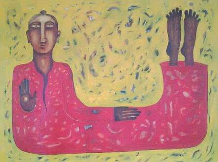 Twisted Monk | Painting by artist Ranjith Raghupathy | oil | Canvas