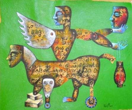 Journey | Painting by artist Ranjith Raghupathy | acrylic | Paper