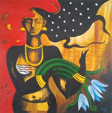 Ranjith Raghupathy | Oil Painting title Solitude on Canvas | Artist Ranjith Raghupathy Gallery | ArtZolo.com