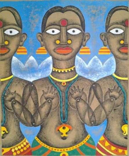 Winter | Painting by artist Ranjith Raghupathy | acrylic | CardBoard