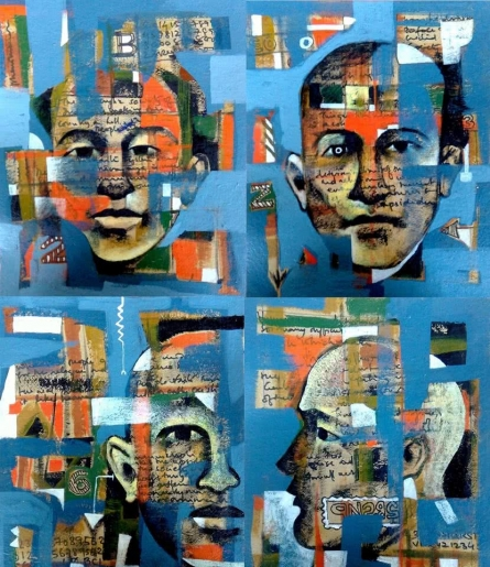 contemporary Acrylic Art Painting title Face 1 by artist Ranjith Raghupathy