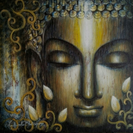Dhyana   Painting by artist Madhumita Bhattacharya   acrylic   Canvas