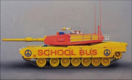 School Bus | Painting by artist Ravi Sachula | oil | Canvas