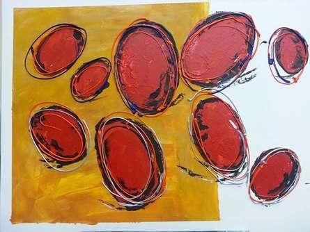 9519520 Orig | Painting by artist Romaine Kaufman | acrylic | Canvas