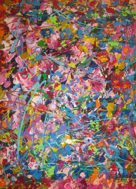 Expressionist Acrylic Art Painting title Universe in itself by artist Romaine Kaufman