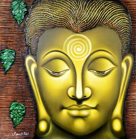 Serene Buddha | Painting by artist Ramesh Patel | oil | Canvas