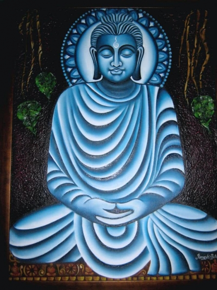 Meditating Buddha | Painting by artist Ramesh Patel | oil | Canvas