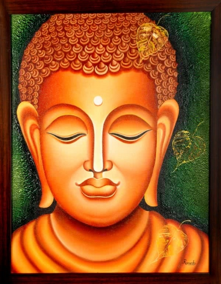 Lord buddha, Painting - Figurative - Ind | Painting by artist Ramesh | oil | Canvas