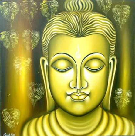 Lord buddha painting | Painting by artist Ramesh | oil | Canvas Board