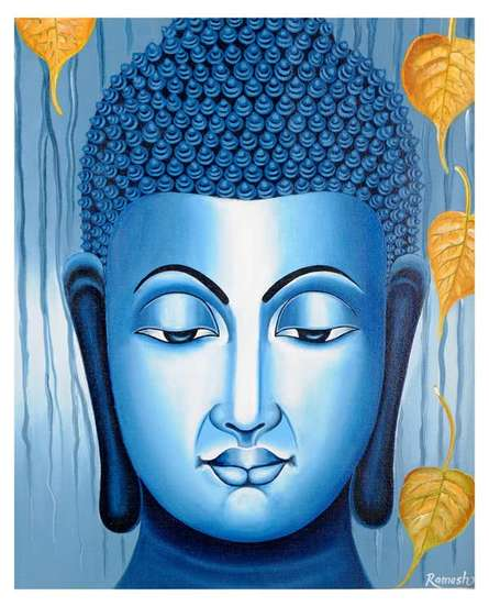 Lord buddha, Painting - Figurative - Ind | Painting by artist Ramesh | acrylic | Canvas