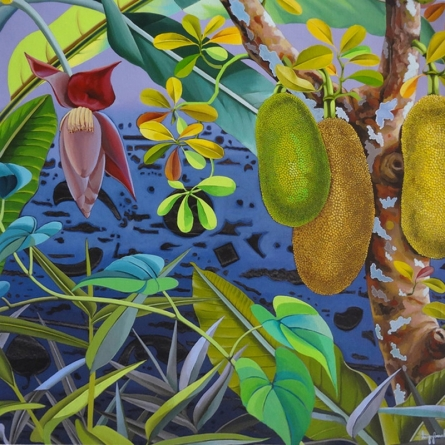 Nature Acrylic Art Painting title 'Jackfruit 2' by artist Sanjay Kumar Biswal