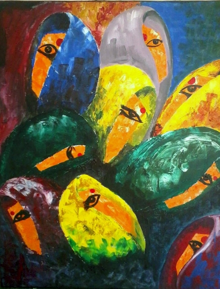 Womens | Painting by artist Poonam Tiwari | acrylic | Canvas