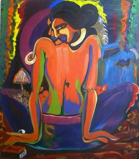 Cremation   Painting by artist Poonam Tiwari   acrylic   Canvas