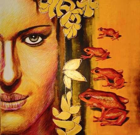 Partho Sengupta | Kiss Mixed media by artist Partho Sengupta on PVC board | ArtZolo.com