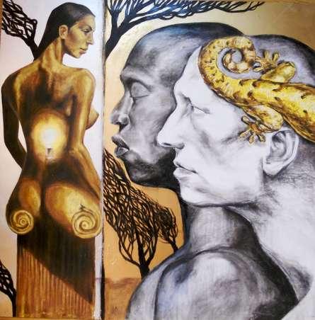 Partho Sengupta | Smitten Mixed media by artist Partho Sengupta on PVC | ArtZolo.com