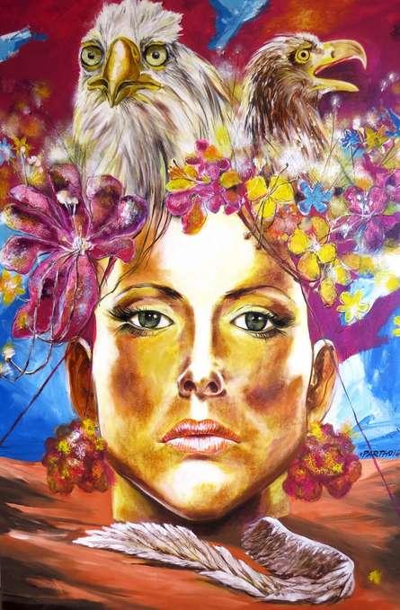 Partho Sengupta | Trapped Mixed media by artist Partho Sengupta on Canvas | ArtZolo.com