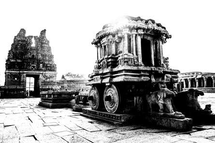 Vittala temple | Photography by artist Sawant Tandle | Art print on Canvas