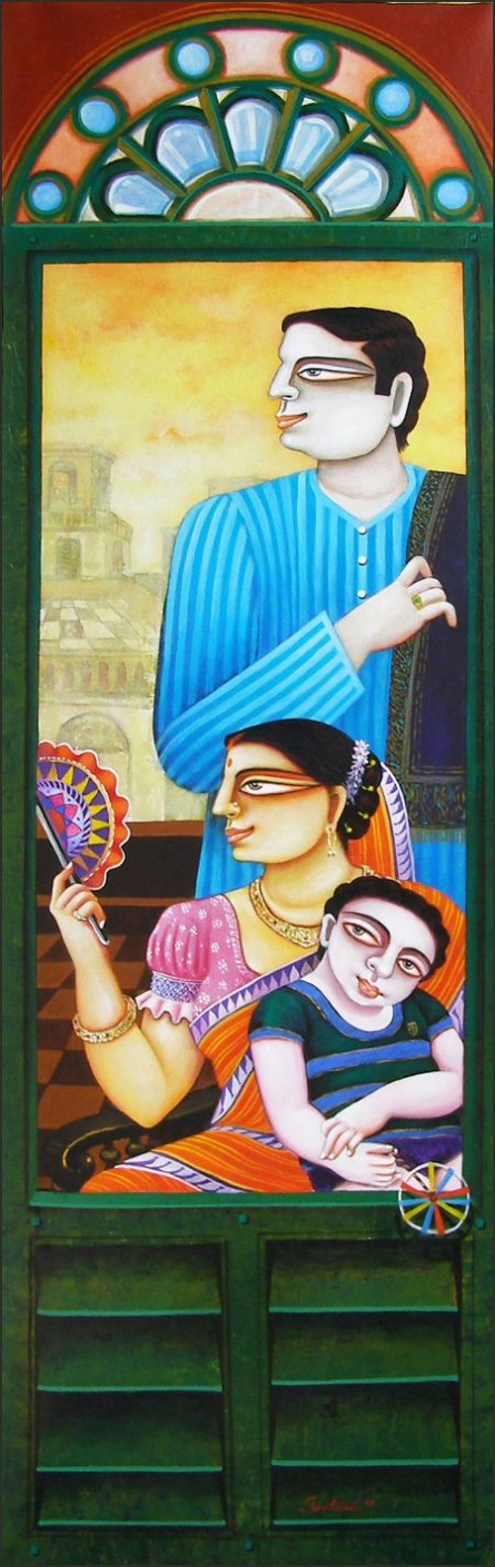 SOLD | Painting by artist Gautam Mukherjee | acrylic | Canvas