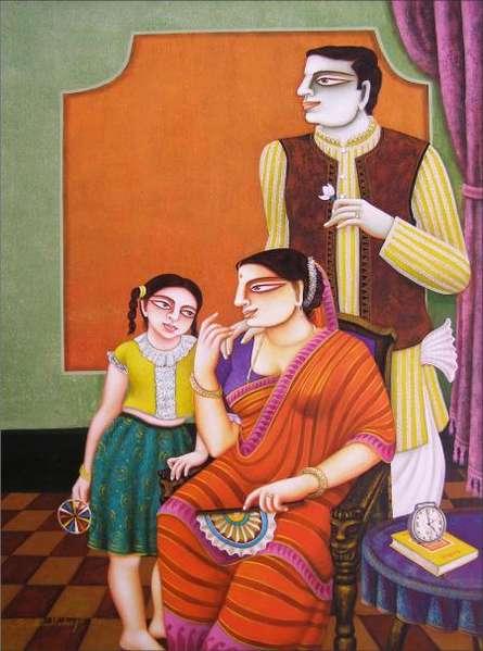 Gautam Mukherjee | Acrylic Painting title Untitled on Canvas | Artist Gautam Mukherjee Gallery | ArtZolo.com