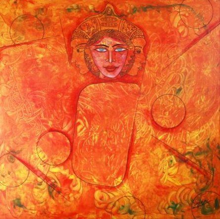 A Girl | Painting by artist DADA | acrylic | Canvas