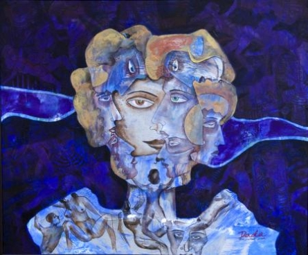 Multiplicity Of Human | Painting by artist DADA | acrylic | Canvas