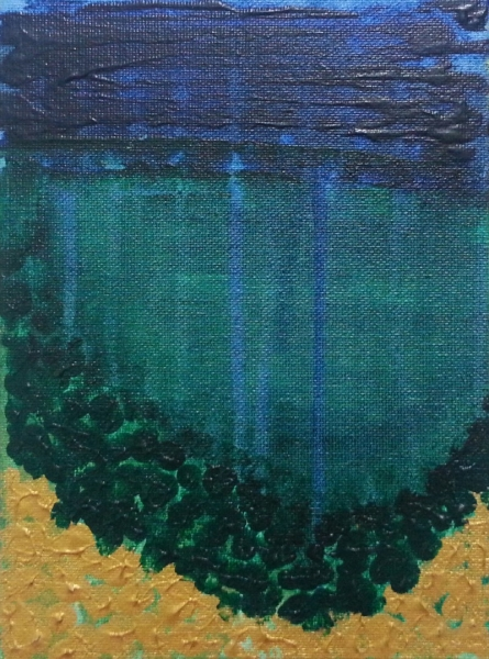 Deep Sea | Painting by artist Gayathri Nair | acrylic | Canvas Board