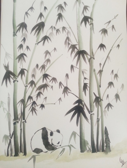 Panda | Painting by artist Gayathri Nair | watercolor | Paper